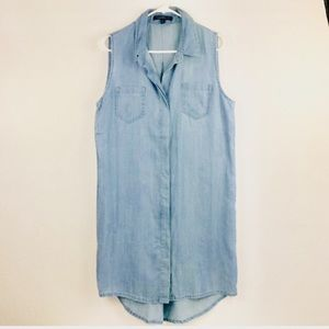 NWOT VelvetHeart chambray sleeveless dress/duster